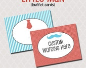 Little Man Printable Buffet Cards | Instant Download | Food Labels