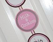 Milk & Cookies Printable Fancy Welcome Sign - Instant Download | Milk Cookies | Pink | Girls