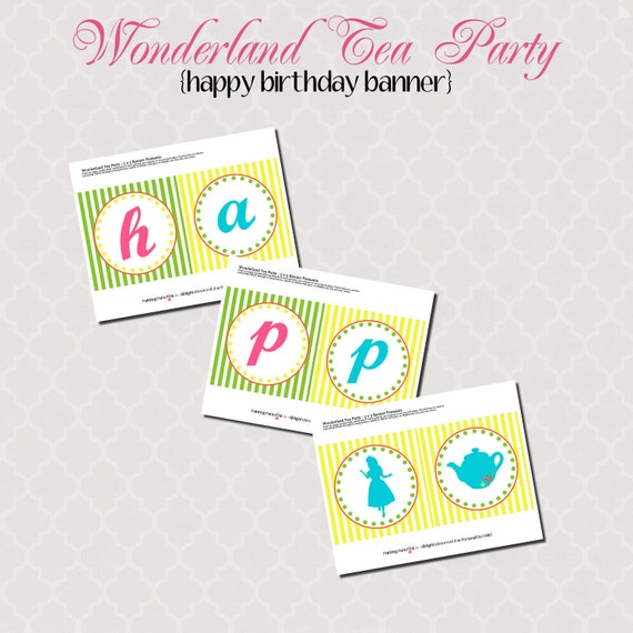 Items Similar To Happy Birthday Banner Printable