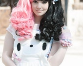 Blue Lolita Clip -  Kawaii clip - Pastel clip - Puffy Candy Clip - Handmade Hair Candy - Oversized Candy - Hair Bow - Pastel Clip
