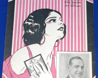 Vintage 1926 I Don't Want To Forget Sheet Music Sydney Leff Cover Art Deco 1920s