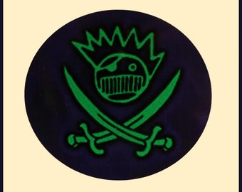 Ween Boognish Pirate Oblong Series Green and Purple High Quality Vinyl Sticker