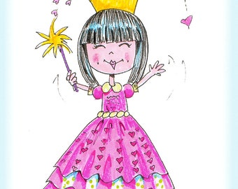 Imagine - a Charming China Girl print by an adoptive Mom Person of a charming China Girl
