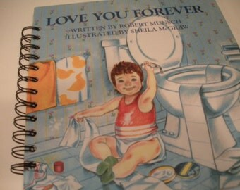 Love You Forever Recycled Journal Notebook