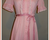 The cutest pink dress (or nightie) 1970s 1980s