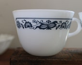 Vintage Pyrex 14 Cups Old Town Blue  Pyrex Coffee or Tea Cups Set of 14