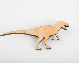 T-Rex Dinosaur Brooch. T-Rex Badge. Dinosaur Pin. Animal Brooch. Eco Friendly Brooch. Plastic Brooch. Fun Brooch. Jurassic Park. Nature Pin.