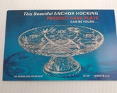 Vintage Mid Century Advertising Postcard for Anchor Hocking Prescut Cake Plate from Schoenfelds Furniture Tacoma, Wash - Eames / Atomic Era