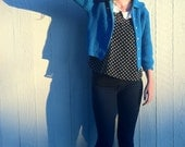 Brilliant Blue Women's Vintage Cardigan