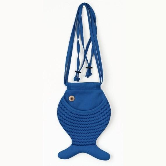 Kids Bag Fish Purse Fanny Pack Persian Blue Fish Bag Cross Body Bag Cotton Bag Marine Style Beach Wear Girls Bag Children's Bag For Kids