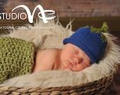 Blueberry Baby Hat,Newborn, Blueberry Hat, Newborn Photo Prop, Baby Girl Knit Hat, Baby Boy Knit Hat, Blue Baby Hat, Baby Christmas Gift