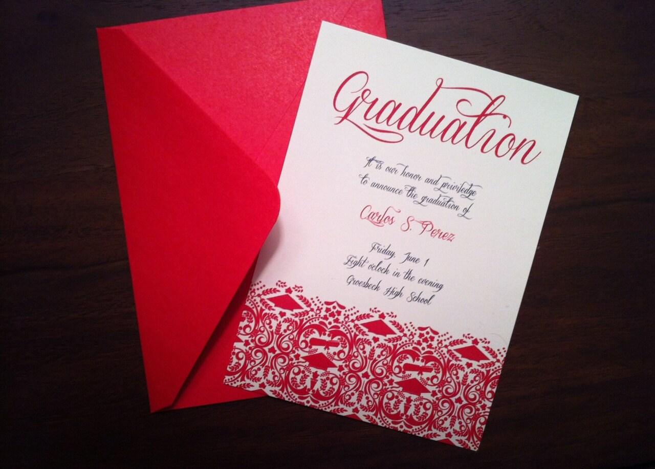 diy graduation invitation  announcement high school  college