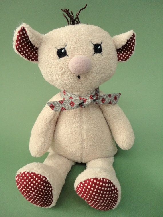 Teddy bear stuffed bear Super Cute & Super Soft with polka-dot ears