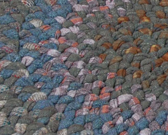 Reserved for CBower - Braided Wool Rug - Oval