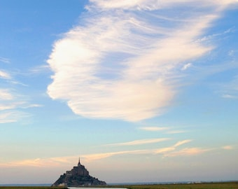 Mythic Tide, Mont St Michel, fine art photograph