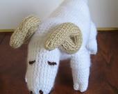 Knit Merino Sheep Stuffed Toy