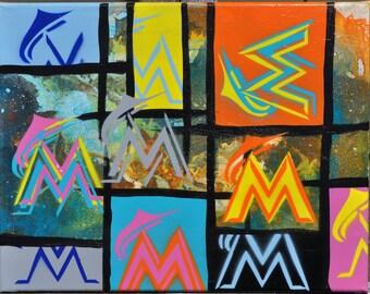 Miami Marlins fine art by Summo