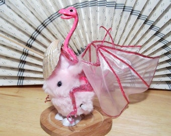 Dragon Knight: Sir Pinkerton, Pink Jousting Dragon Art Doll