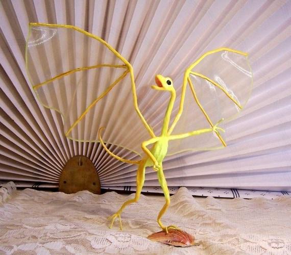 Fairy Dragon Art Doll: Daffodil, Dragon Running on the  Beach