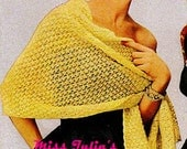 A BEST Vintage 1951 Lace Country Club Stole Wrap 735 PDF Digital Knit Pattern