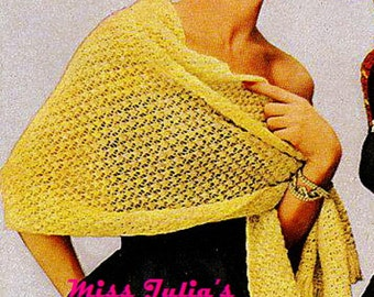 Almost FREE Vintage 1951 Lace Country Club Stole Wrap 735 PDF Digital Knit Pattern