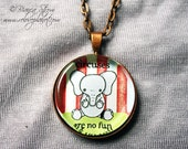 """Circuses are no Fun - Elephant 1"""" Pendant Necklace - or 2 for 20 - ReLove Plan.et"""