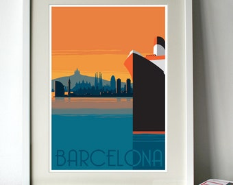 Barcelona Poster - A3