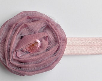 Fabric Flower Headband - Purple Headband - Baby Headband Flower