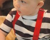Little Man Red Suspenders