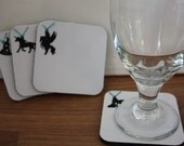 Embellished Coasters 4 pack with Bling