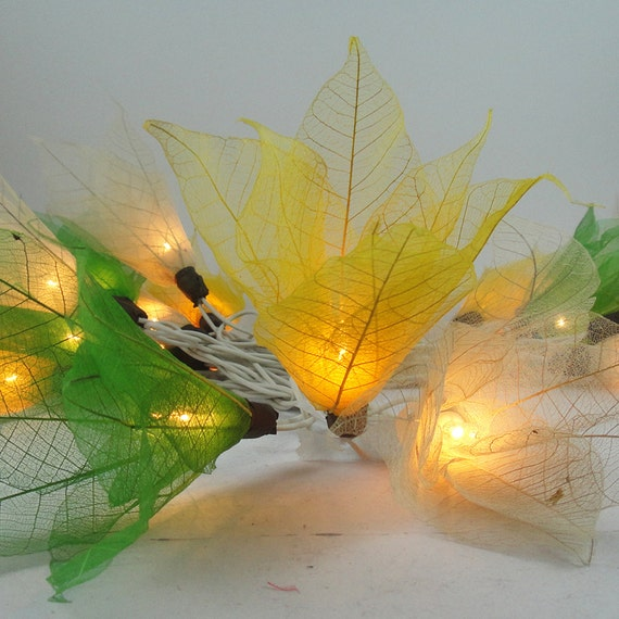 20 Fall Color Tone Bodhi Leave Flower Fairy Lights String 3.5M Home Accent Floral Decor
