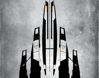 Mass Effect - This Is Normandy Ship Fan Art - 16 x 23 Poster Print