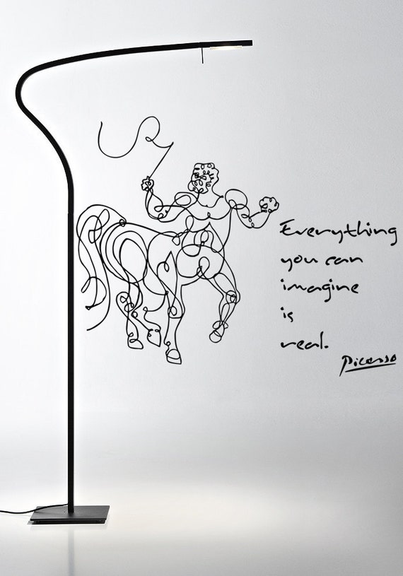 Wall Art inspired by Picasso's Centaure and Quote vinyl wall decal removable wall sticker (ID: 111037)