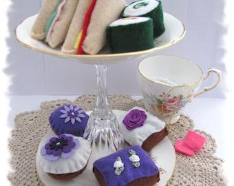Felt Food, Felt Play Food, Felt Sandwich, Cupcakes, High Tea
