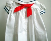 Vintage classic white sailor - Multiple Sizes- New Never Worn