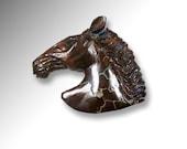 SALE -- Large Australian Boulder Opal Fine Carved Horse Head Cab Cabochon -- DESTASH
