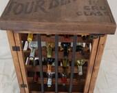 Rustic Iron and Wood Wine Rack