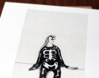 Halloween Candy overdose / print of an original illustration