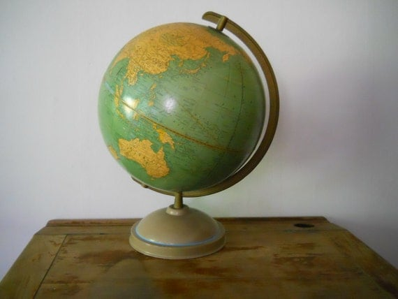 Mid Century World Globe - 1950s World Explorer