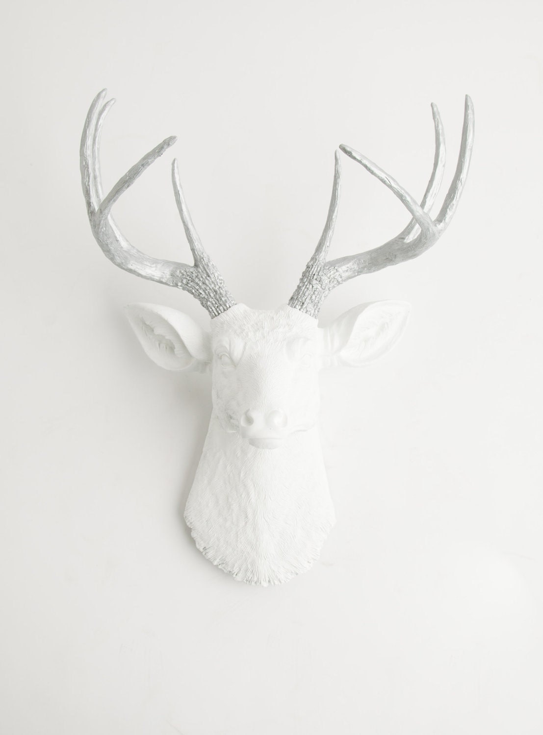 Deer head wall mount the frankfurt by white faux taxidermy zoom amipublicfo Choice Image