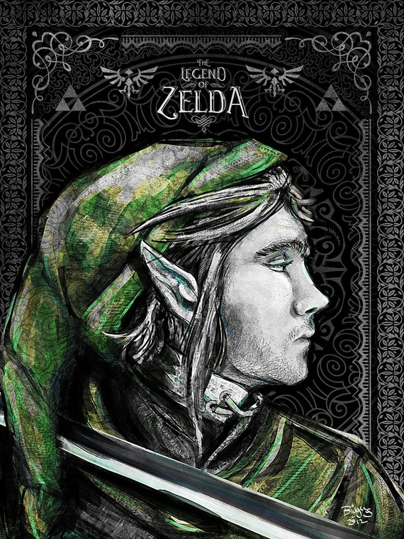 Legend of Zelda - Link The Proud Hylian Geek Art - signed museum quality giclée fine art print