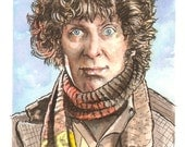 The Fourth Doctor Who Watercolor Painting