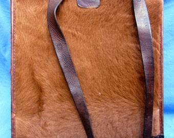WW2 Pony Fur KNAPSACK - Rare, Real, 70 years old & Beautiful