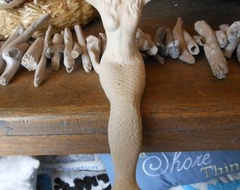Beach Decor Cast Iron Mermaid - White Sitting Mermaid - Mermaid Decor - Beach - Coastal Home Decor - Mermaid