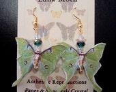 Luna Moth Paper Earrings