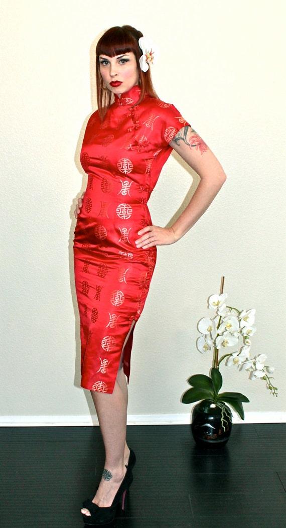 Cheongsam Chinese Dress Viva Las Vegas Gorgeous Late