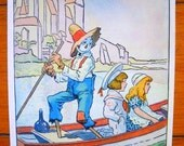 30s SCARECROW in a gondola JOHNNY GRUELLE print