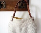 SMALL BAG - light brown and jellow