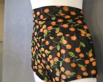 High Waisted Cherry Print Bloomers Ladies sz large Retro Style Pin-Up