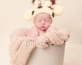 Giraffe Baby Hat Newborn/Baby Photo Prop